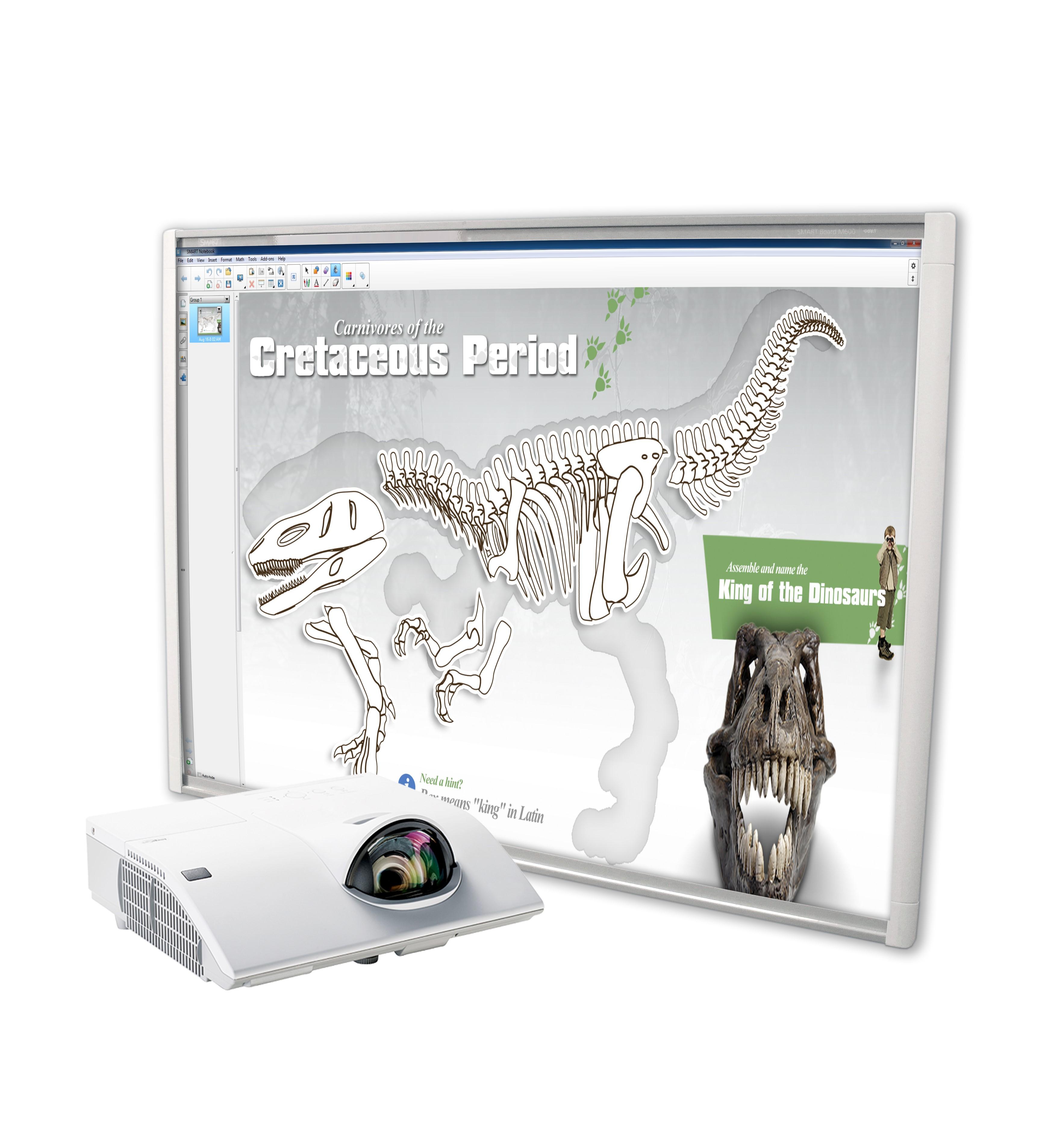 Zestaw Interaktywny Tablica interaktywna SMART M680V + projektor o krótkiej ogniskowej CP-CX301